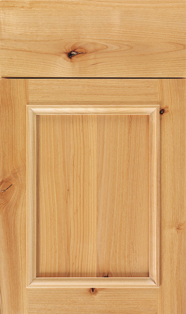 Haskins Rustic Alder recessed panel cabinet door in Natural