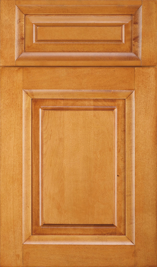Hawthorne 5 Piece Maple Rasied Panel Cabinet Door in Wheatfield Bronze