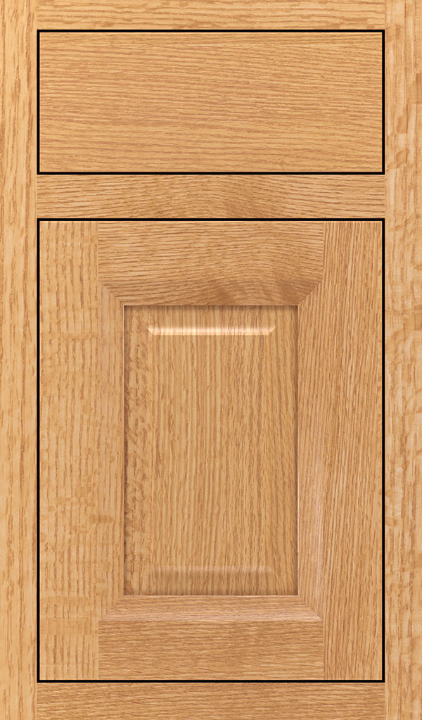 Hawthorne Quartersawn Oak Inset Cabinet Door in Natural