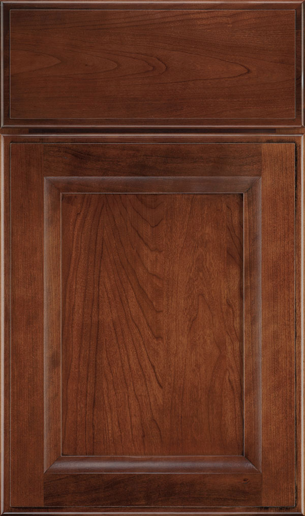 Huchenson Cherry Recessed Panel Cabinet Door in Arlington Espresso