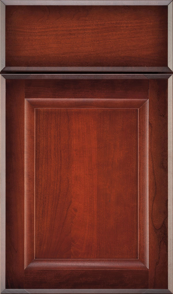 Huchenson Cherry Recessed Panel Cabinet Door in Rousseau Luminaire