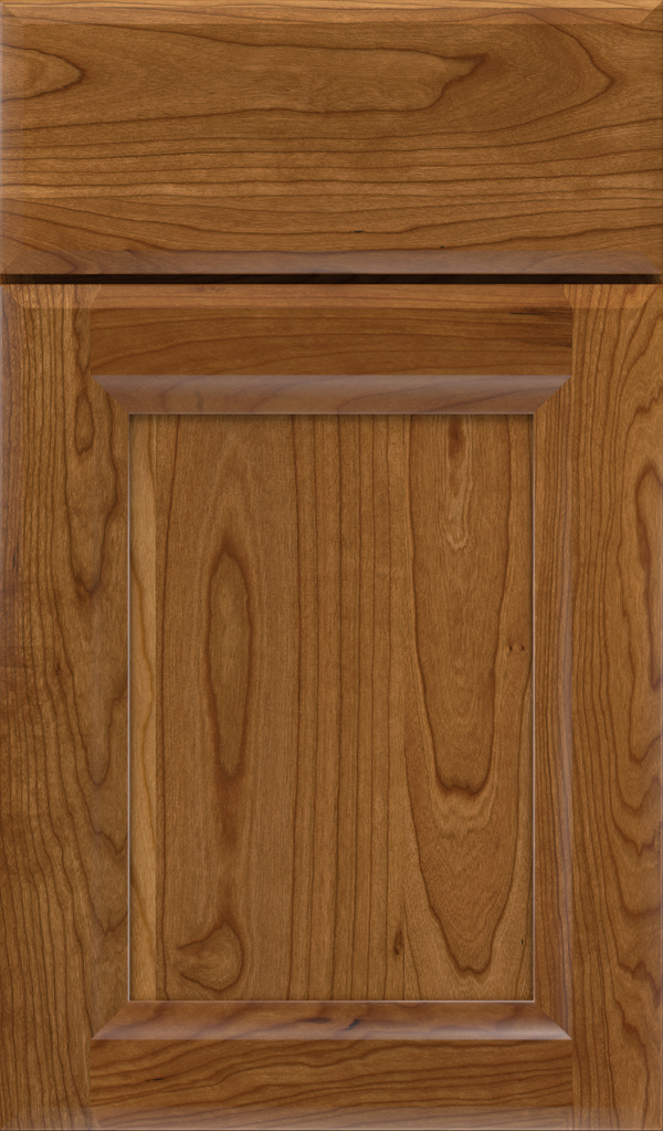 Huchenson Cherry Recessed Panel Cabinet Door in Suede