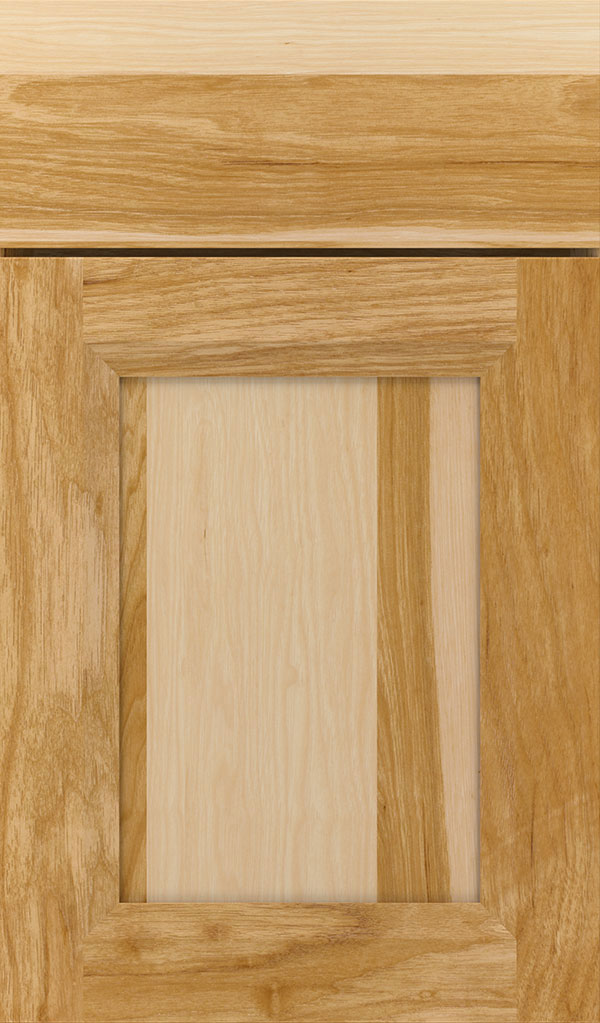 Huchenson Hickory Recessed Panel Cabinet Door in Natural