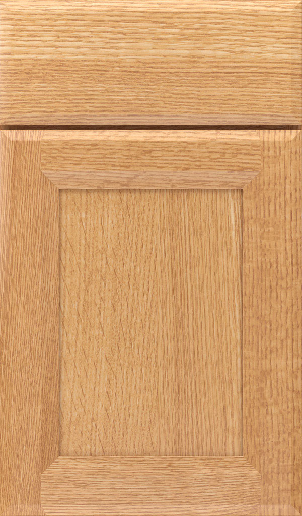 Huchenson Quartersawn Oak Recessed Panel Cabinet Door in Natural
