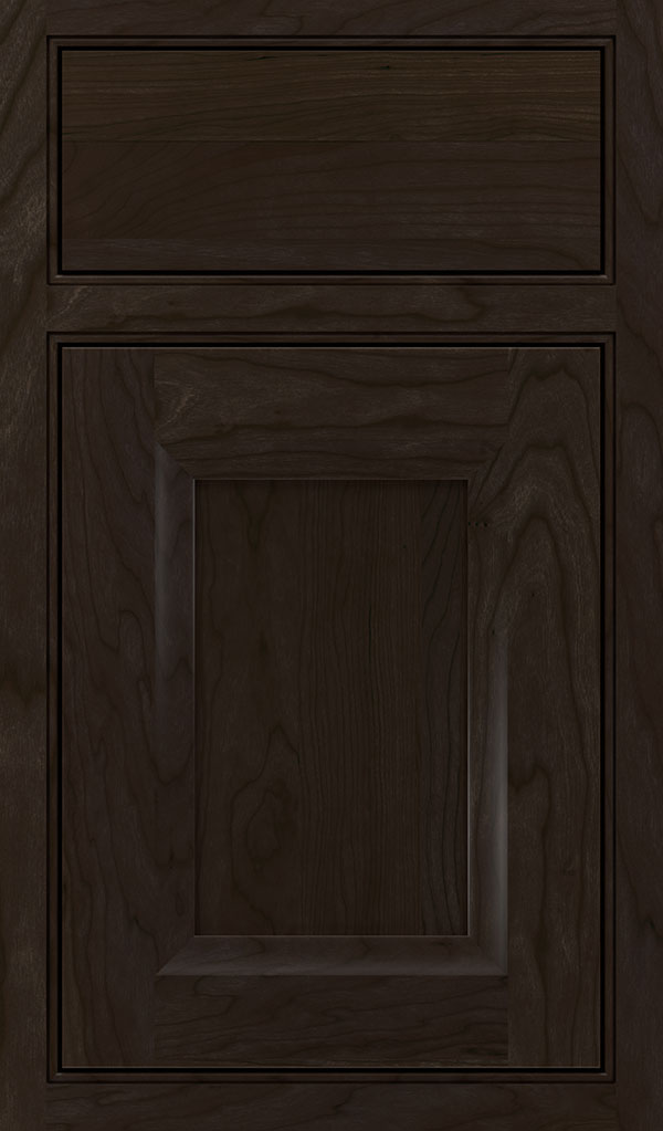 Huchenson Cherry Beaded Inset Cabinet Door in Teaberry