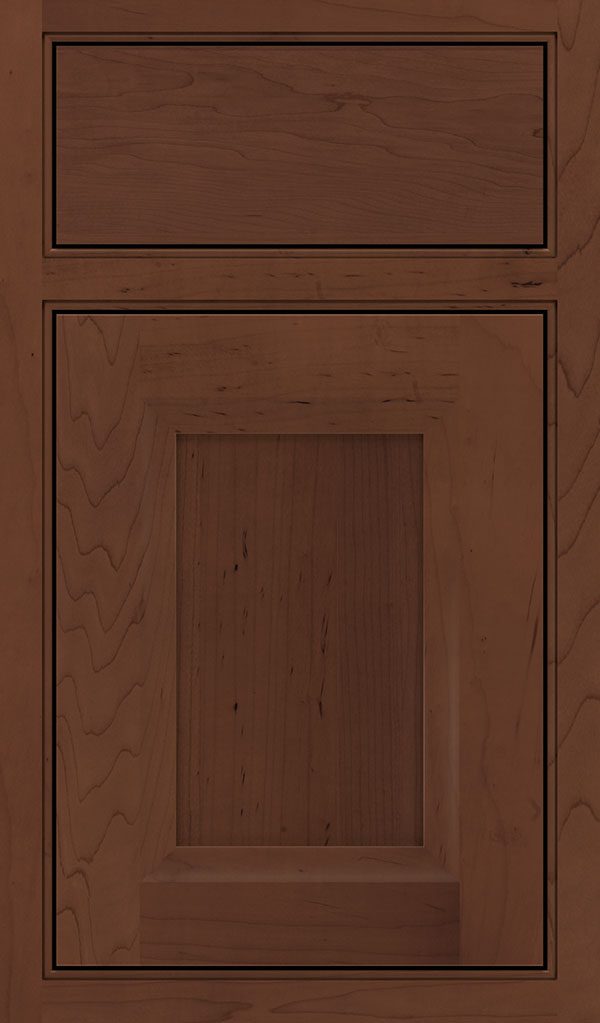 Huchenson Maple Beaded Inset Cabinet Door in Sepia