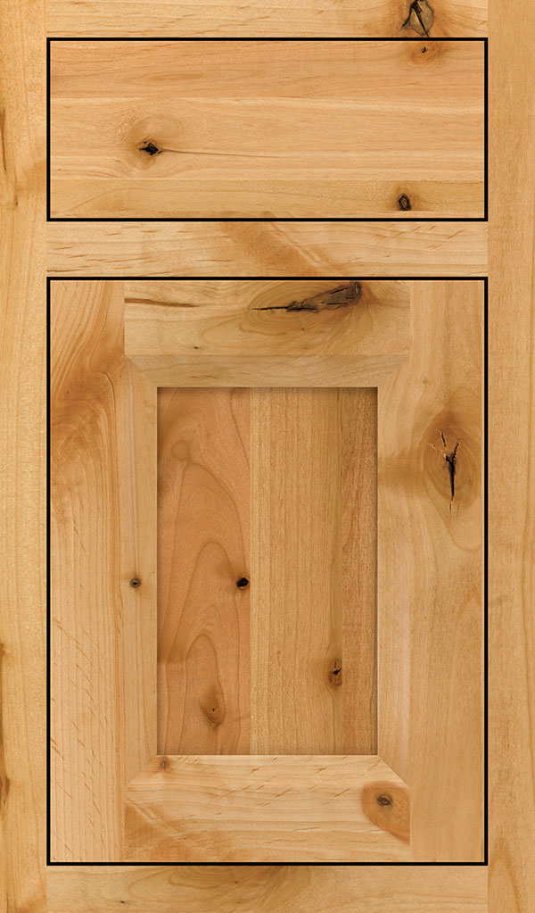 Huchenson Rustic Alder Inset Cabient Door in Natural