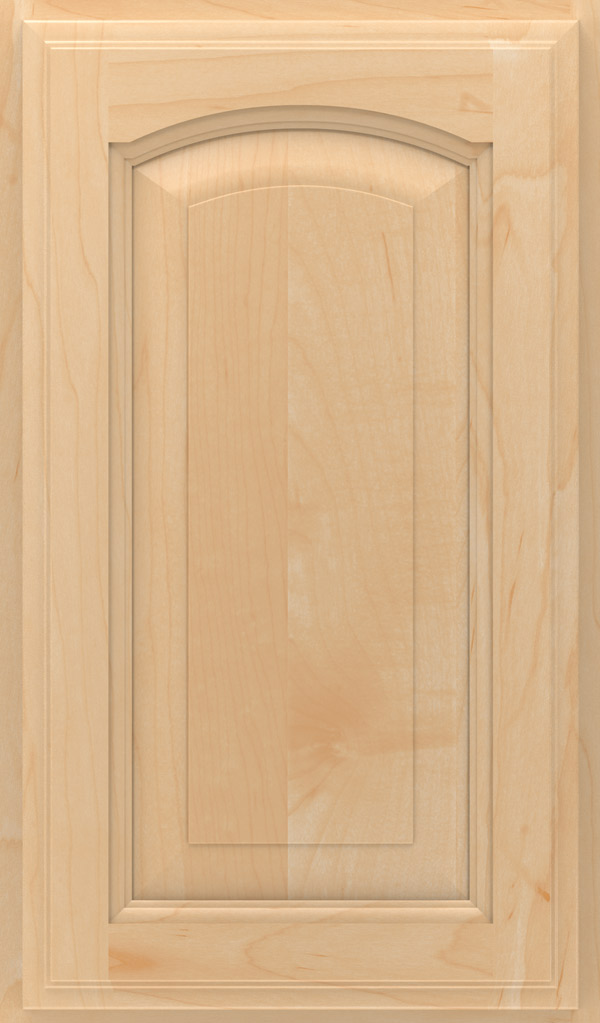 Kingston Maple Arched Raised Panel Cabinet Door in Natural