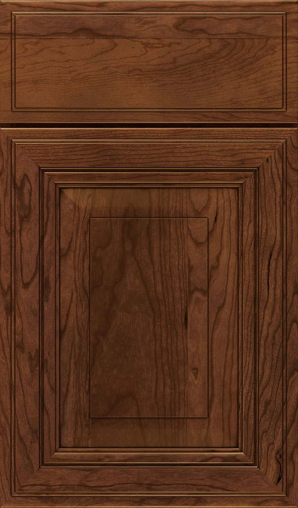 Lexington Cherry Raised Panel Cabinet Door in Arlington Espresso