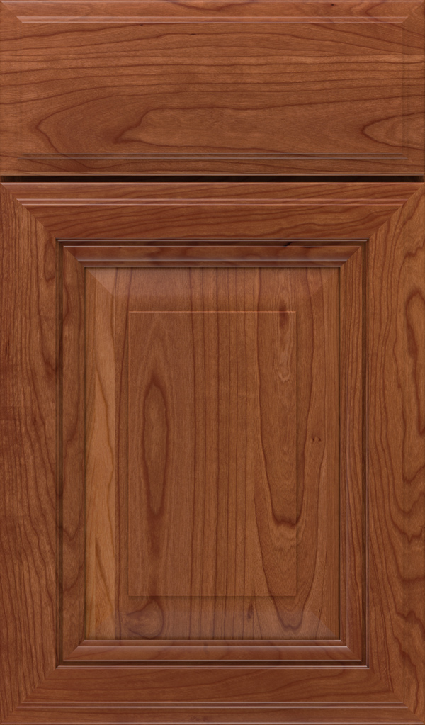 Lexington Cherry Raised Panel Cabinet Door in Brandywine