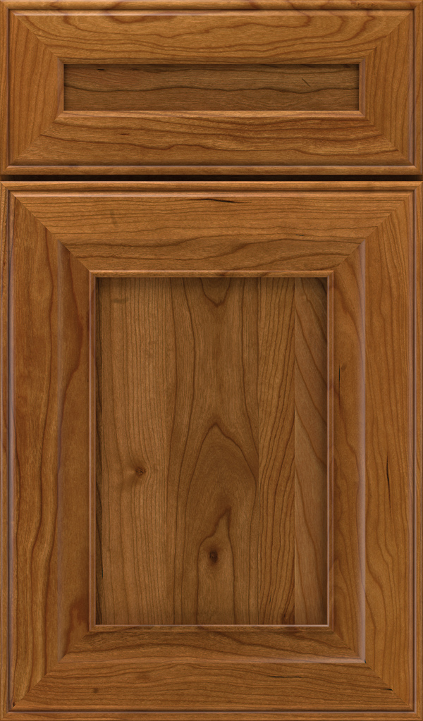 Leyden 5 Piece Cherry Flat Panel Cabinet Door in Suede