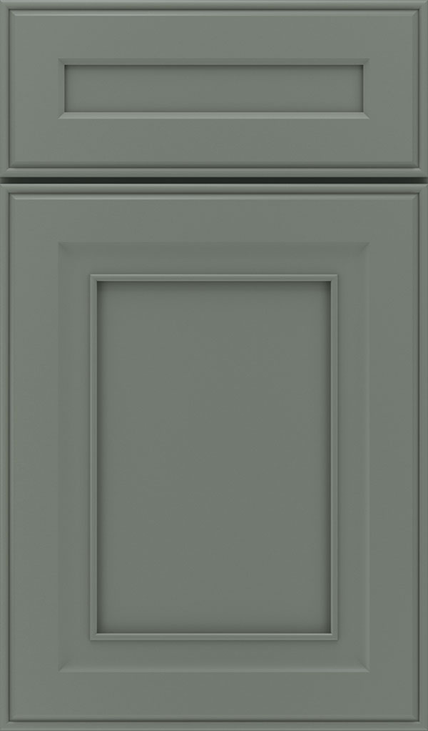 Leyden 5 Piece Maple Flat Panel Cabinet Door in Retreat