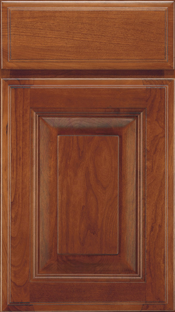 Madison Cherry Rasied Panel Cabinet Door in Brandywine