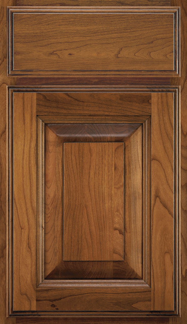 Madison Cherry Rasied Panel Cabinet Door in Wheatfield Espresso