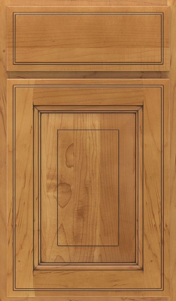 Madison Maple Rasied Panel Cabinet Door in Coriander Coffee