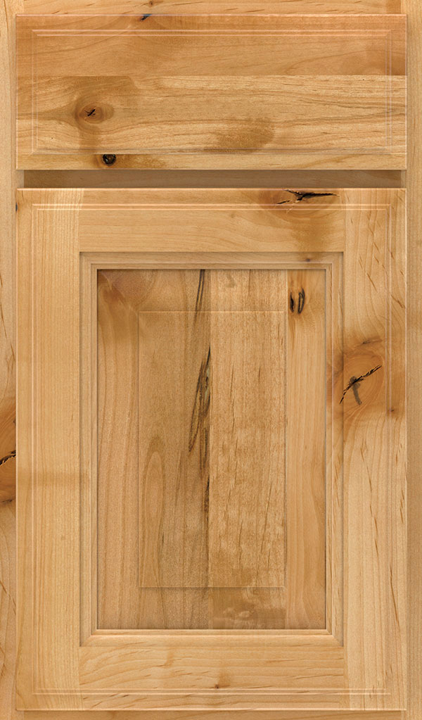 Madison Rustic Alder Rasied Panel Cabinet Door in Natural