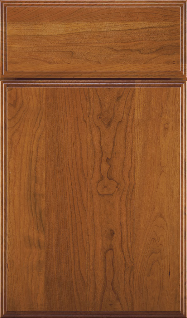 Marquis Cherry Slab Cabinet Door in Sienna Coffee