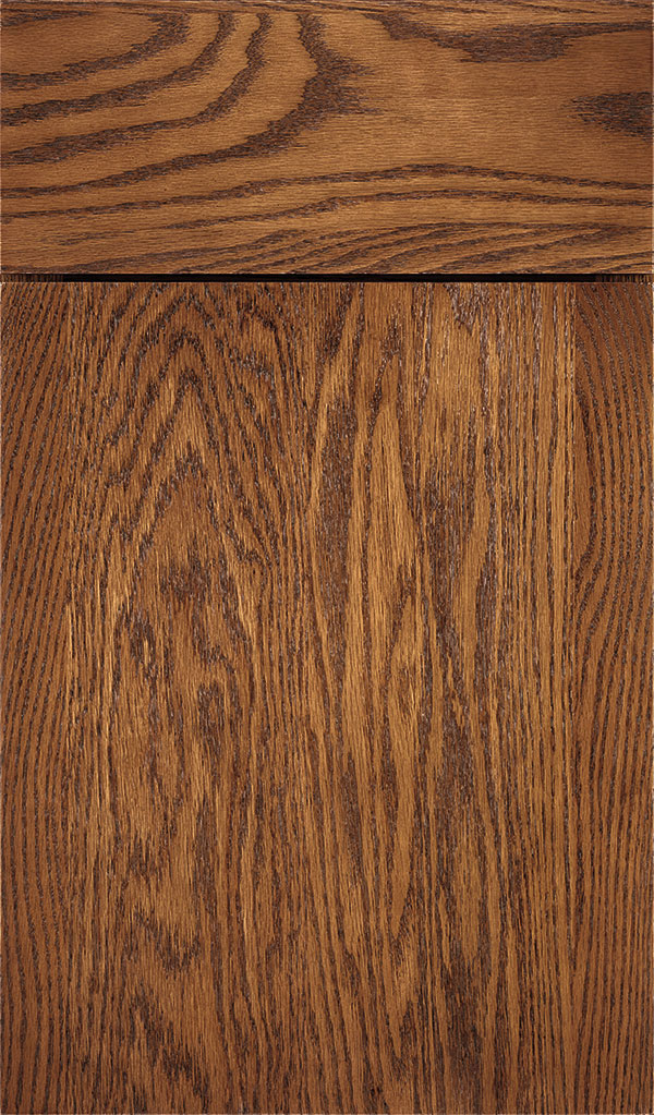 Marquis Oak Slab Cabinet Door in Suede