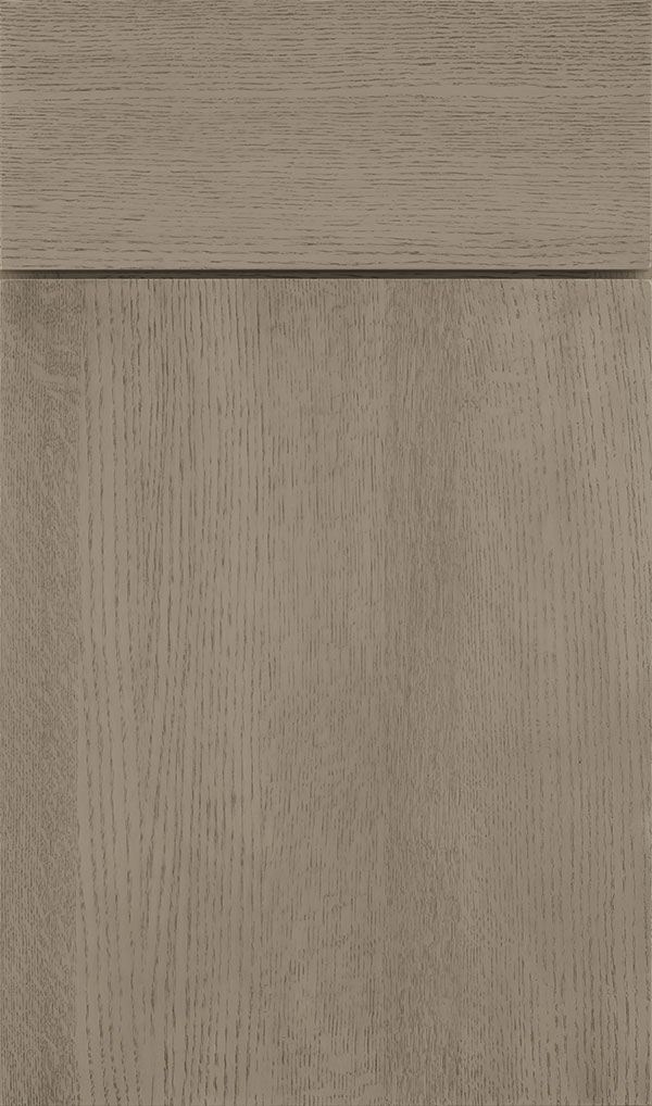 Marquis Quartersawn Oak Slab Cabinet Door in Angora