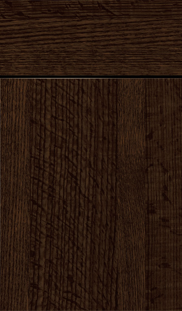 Marquis Quartersawn Oak Slab Cabinet Door in Bobmay