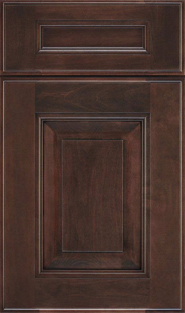 Maxwell 5 Piece Maple Raised Panel Cabinet Door in Malbec
