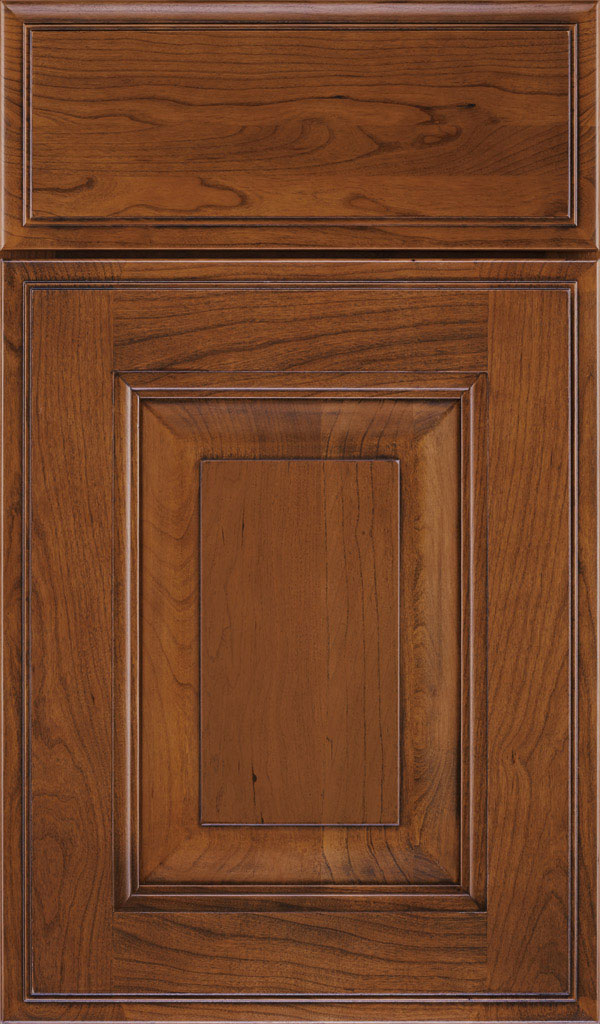 Maxwell Cherry Raised Panel Cabinet Door in Brandywine Coffee