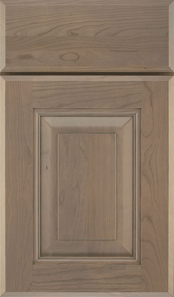 Maxwell Cherry Raised Panel Cabinet Door in Fog