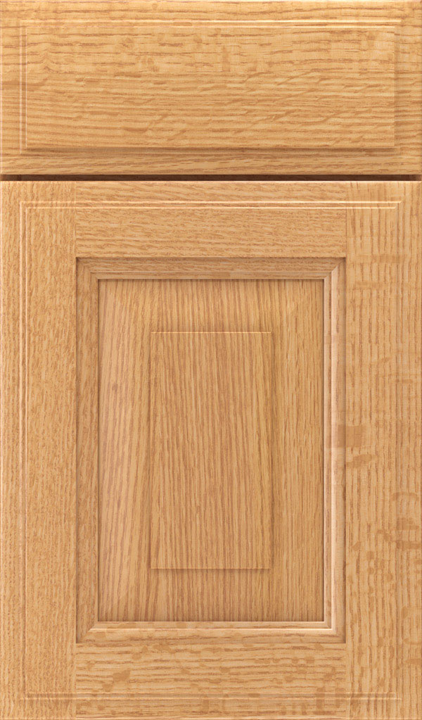 Maxwell Quartersawn Oak Raised Panel Cabinet Door in Natural