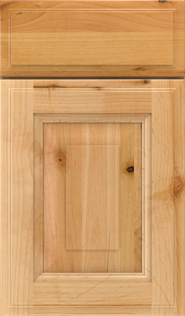 Maxwell Rustic Alder Raised Panel Cabinet Door in Natural