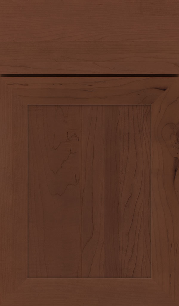 Modesto Maple Recessed Panel Cabinet Door in Sepia