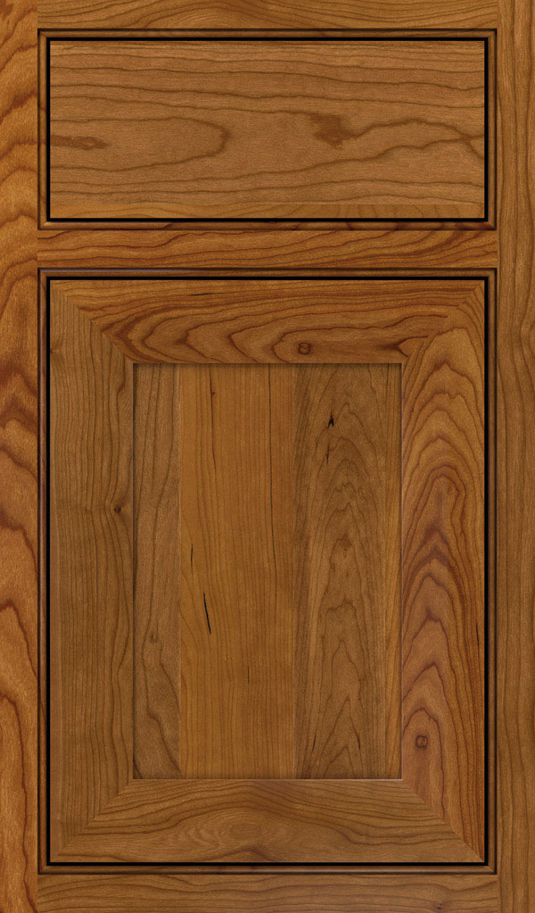 Modesto Cherry Beaded Inset Cabint Door in Suede