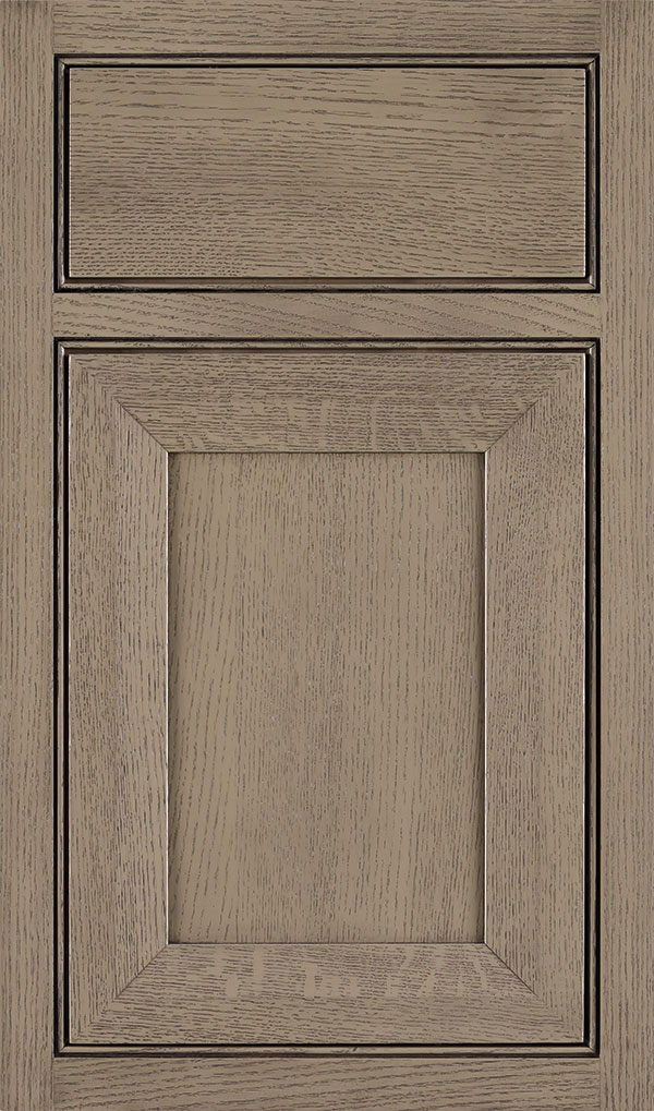 Modesto Quartersawn Oak Beaded Inset Cabint Door in Angora