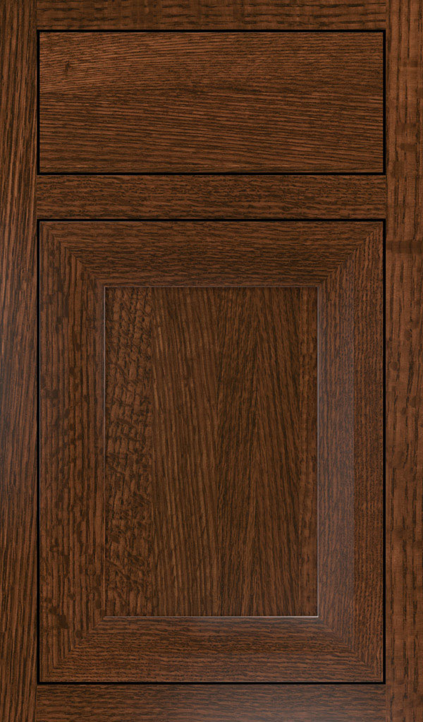 Modesto Quartersawn Oak Inset Cabint Door in Sepia