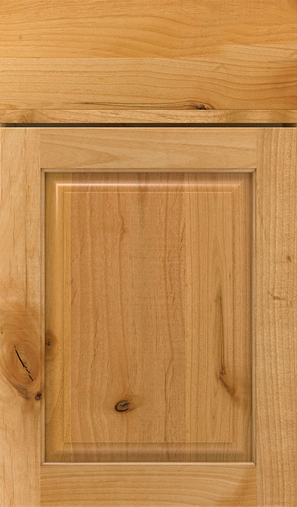 Plaza Rustic Alder raised panel cabinet door in Natural