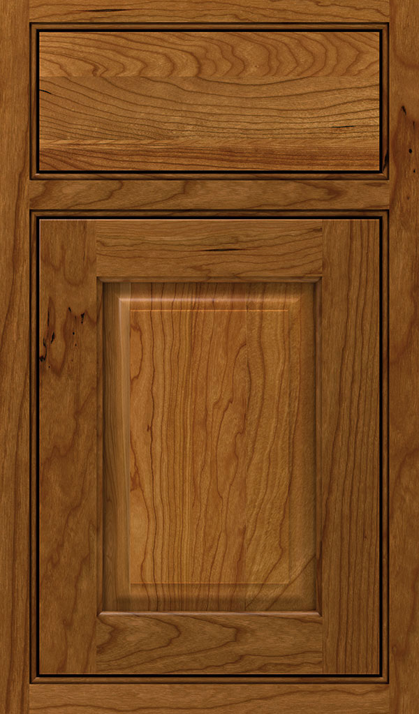 Plaza Cherry Beaded Inset Cabinet Door in Suede