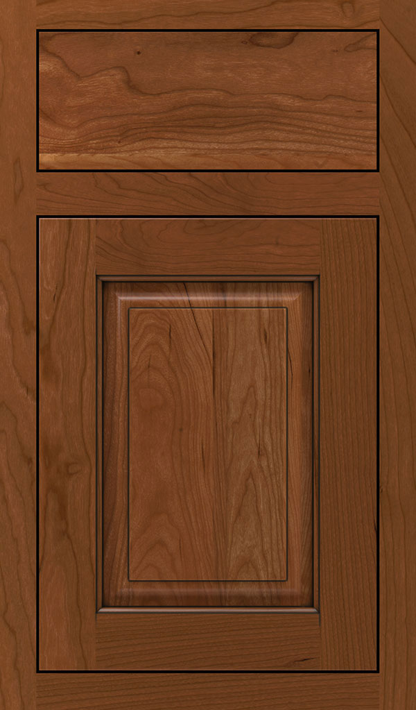 Plaza Cherry Inset Cabinet Door in Brandywine Coffee