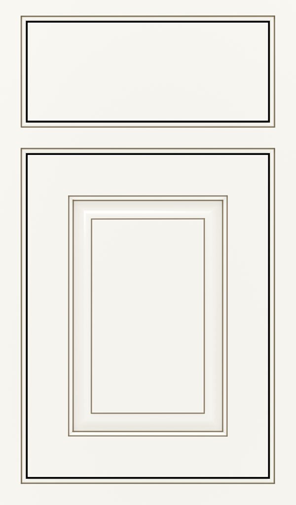 Plaza Maple Beaded Inset Cabinet Door in White Twilight