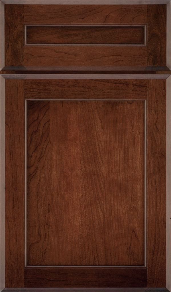 Prescott 5 Piece Cherry Flat Panel Cabinet Door in Arlington Espresso