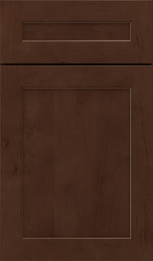 Prescott 5 Piece Maple Flat Panel Cabinet Door in Bombay