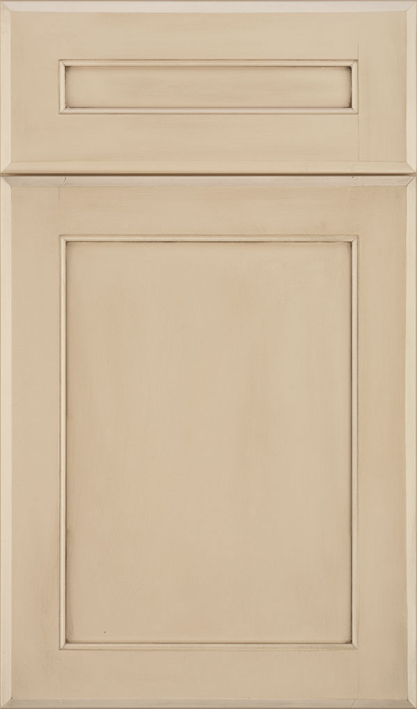 Prescott 5 Piece Maple Flat Panel Cabinet Door in Irish Creme