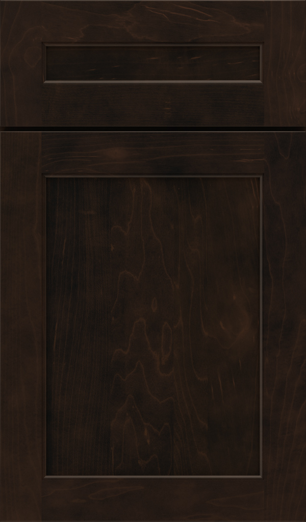 Prescott 5 Piece Maple Flat Panel Cabinet Door in Teaberry