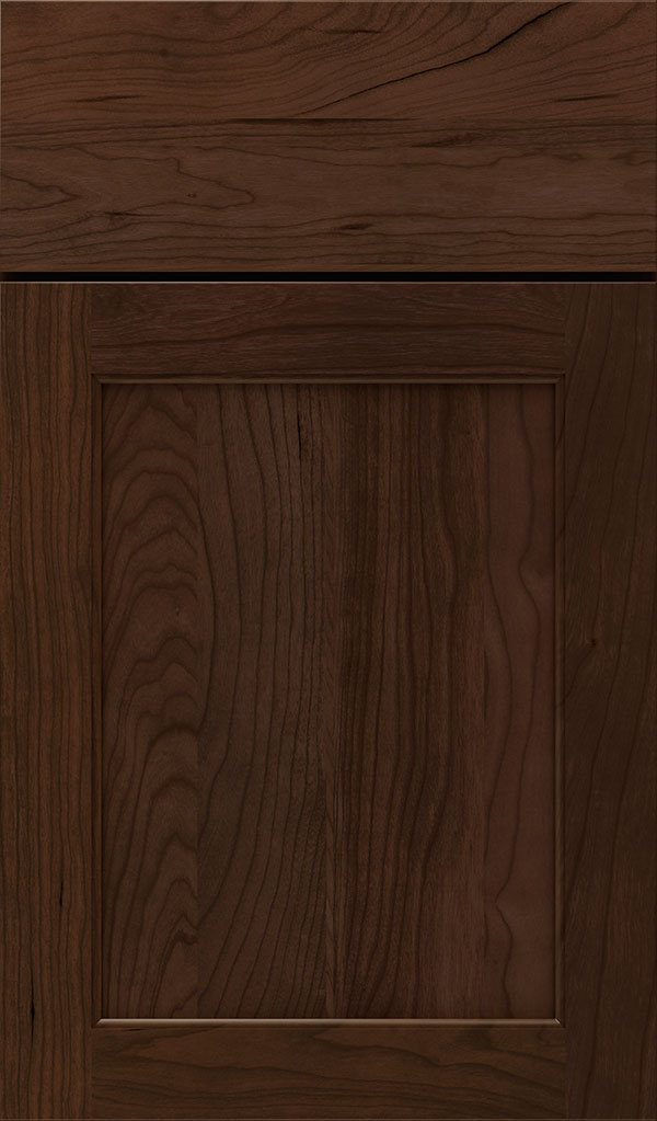 Prescott Cherry Flat Panel Cabinet Door in Bombay