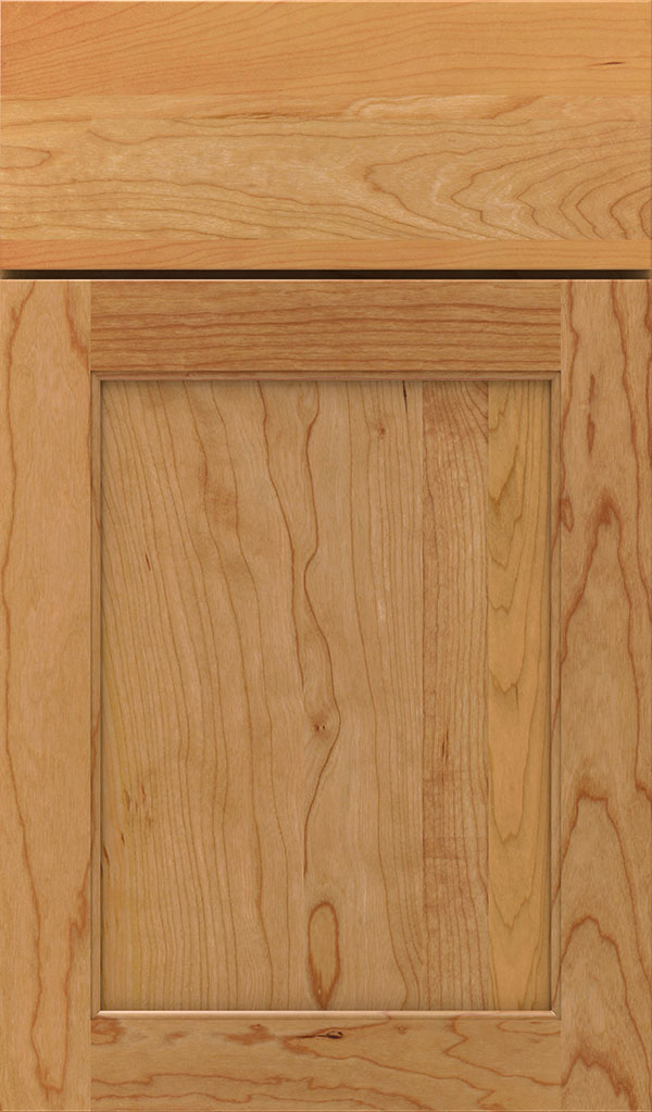 Prescott Cherry Flat Panel Cabinet Door in Natural