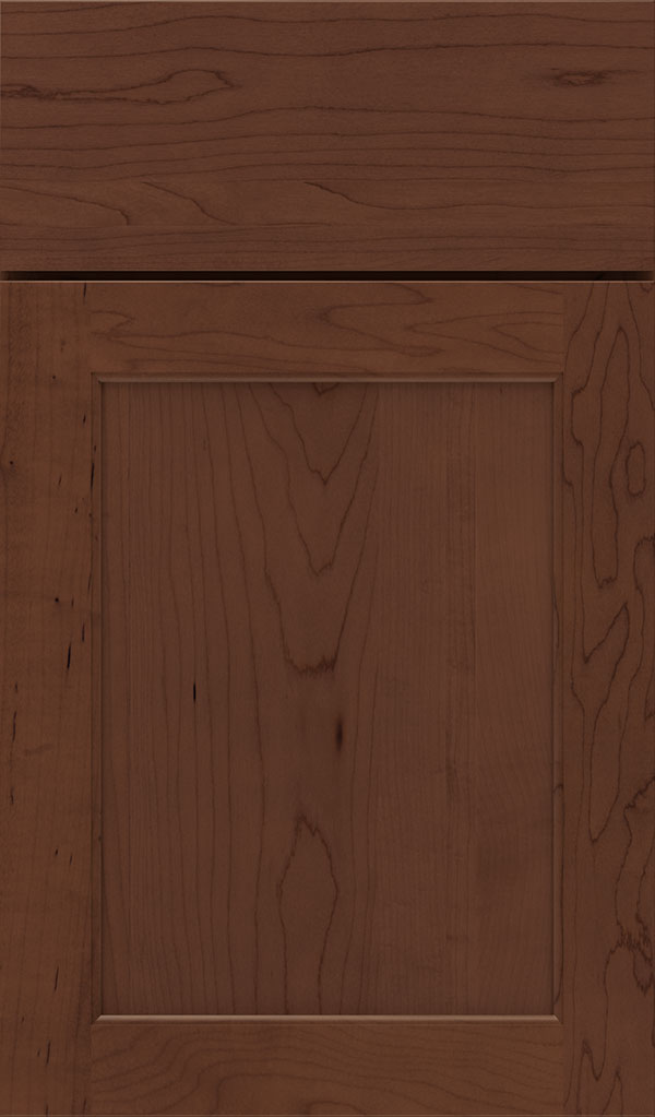 Prescott Maple Flat Panel Cabinet Door in Sepia