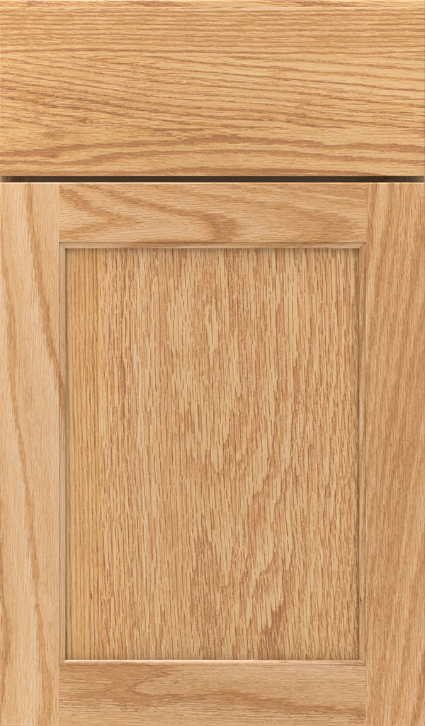 Prescott Oak Flat Panel Cabinet Door in Natural