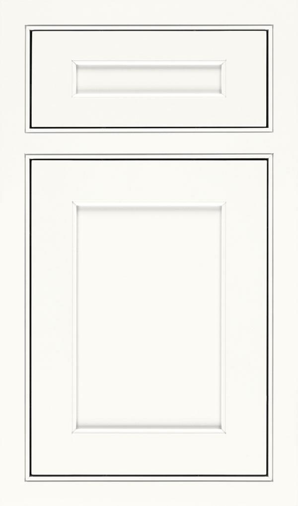 Prescott 5 Piece Maple Beaded Inset Cabinet Door In White