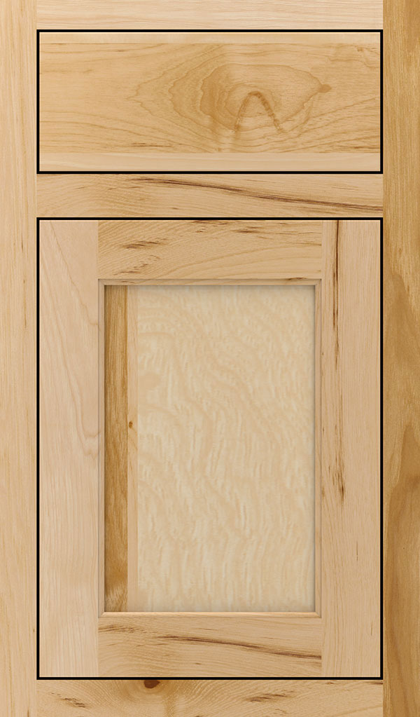 Prescott Hickory Inset Cabinet Door in Natural