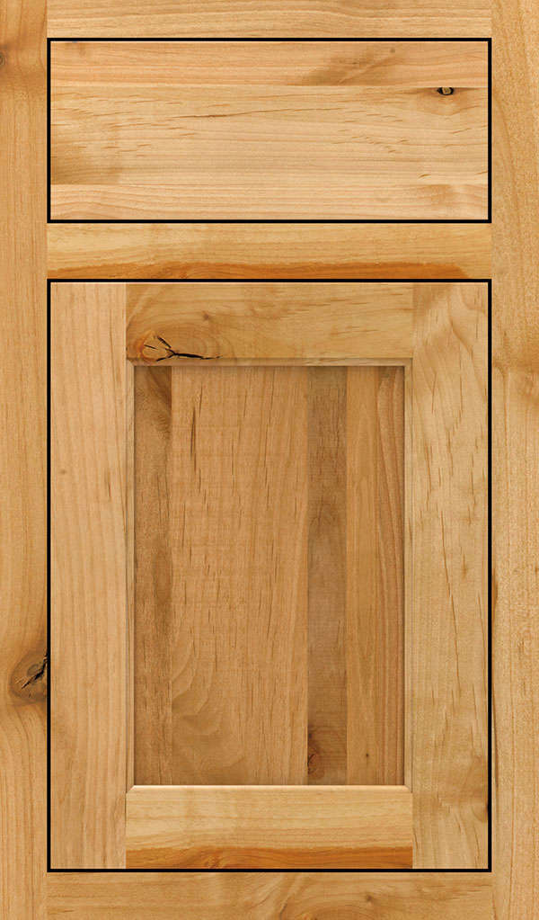 Prescott Rustic Alder Inset Cabinet Door in Natural