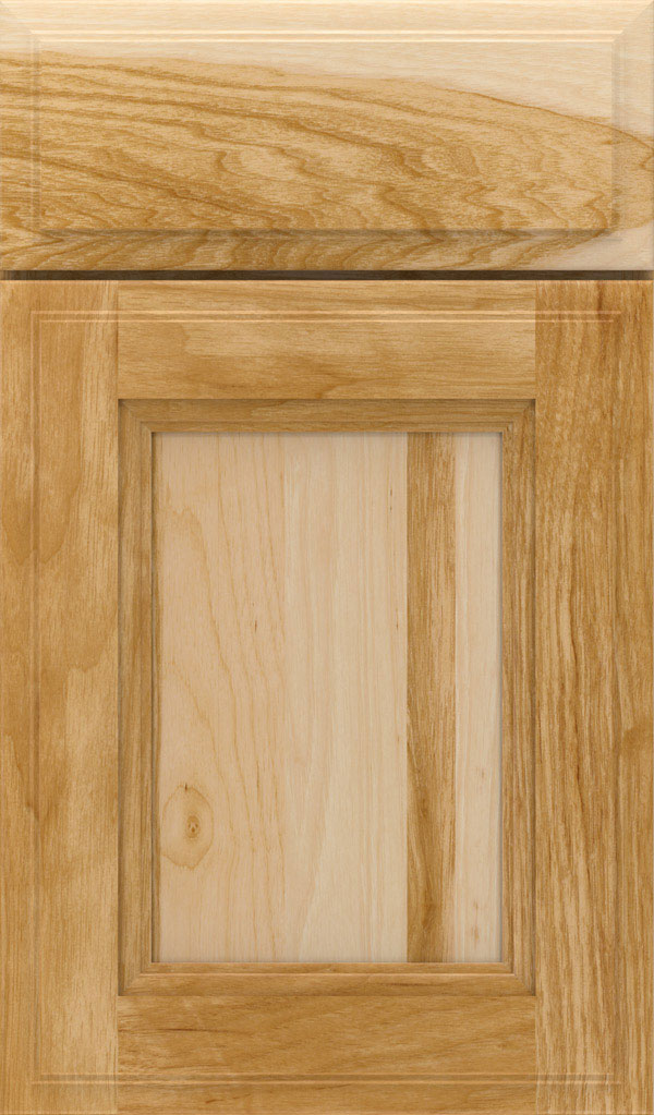 Roslyn Hickory Shaker Style Cabinet Door in Natural