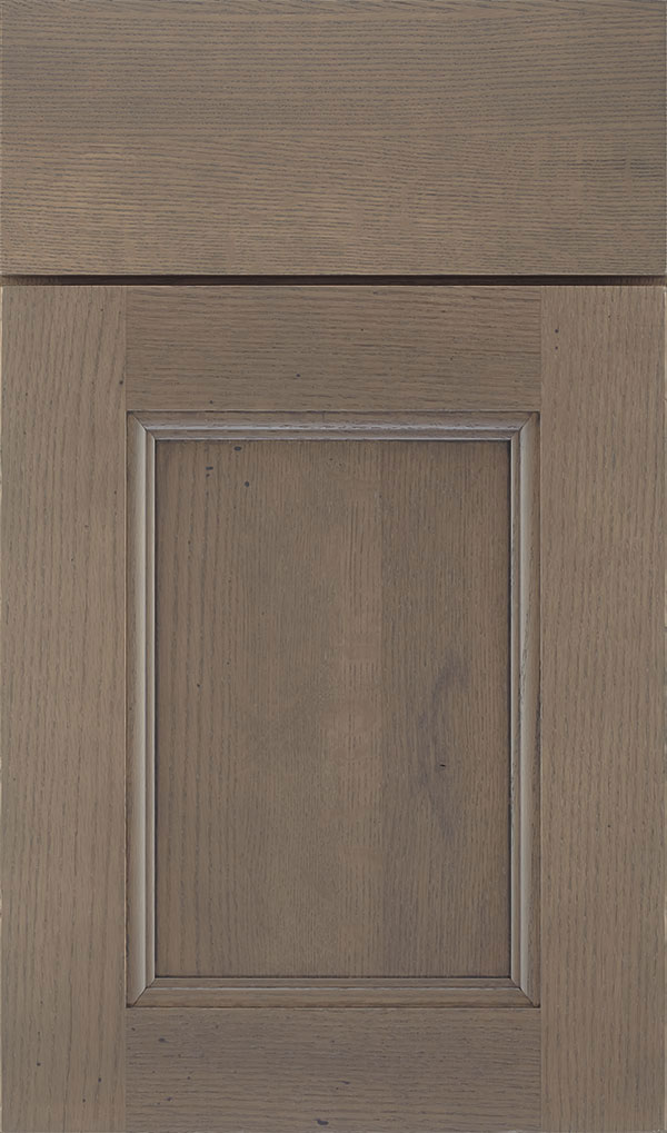 Roslyn Quartersawn Oak Shaker Style Cabinet Door in Cliff